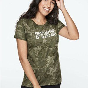 VS Pink Everyday Tee Shale Green Tropical Floral